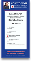 how to vote for Chimezie Kingsley in Campbelltown